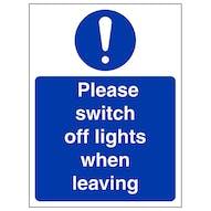 Please Switch Off Lights - Portrait