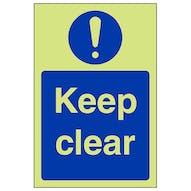 GITD Keep Clear - Portrait