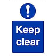 Keep Clear - Portrait
