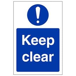 Eco-Friendly Keep Clear - Portrait