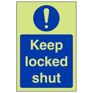 GITD Keep Locked Shut - Portrait