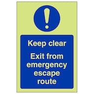GITD Keep Clear Exit For Emergency - Portrait