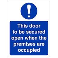 Open When Premises Are Occupied - Portrait