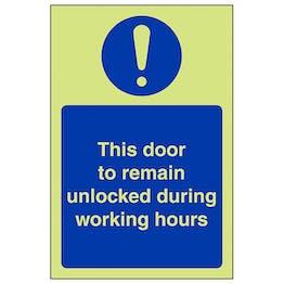 GITD This Door To Remain Unlocked - Portrait