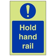 GITD Hold Hand Rail - Portrait