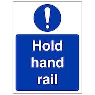 Hold Hand Rail - Portrait