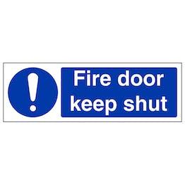 Fire Door Keep Shut - Landscape