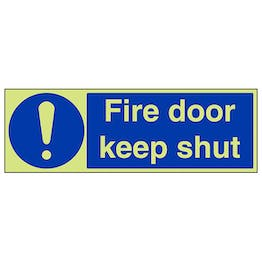 GITD Fire Door Keep Shut - Landscape