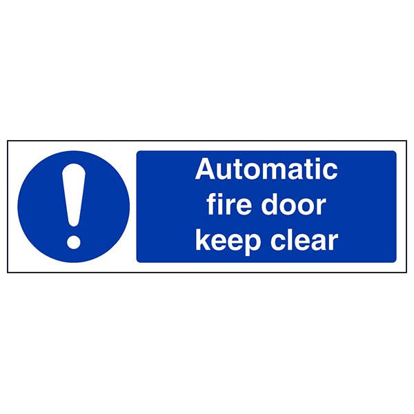 Automatic Fire Door Keep Clear - Landscape