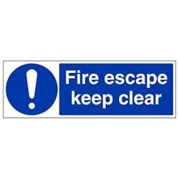 Eco-Friendly Fire Escape Keep Clear - Landscape