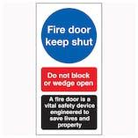 Fire Door Keep Shut / Do Not Block / A Fire Door
