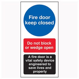 Fire Door Keep Closed / Do Not Block / A Fire Door