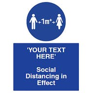 1m+ Social Distancing in Effect