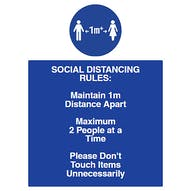 Social Distancing Rules 1m+