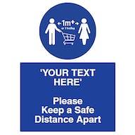 1m+ Safe Distance
