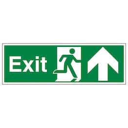 Exit Arrow Up - Landscape