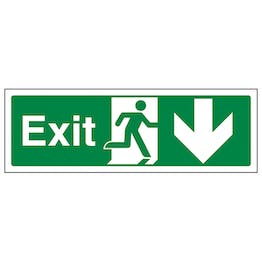 Exit Arrow Down - Landscape