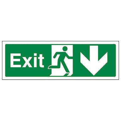 Exit Arrow Down - Landscape