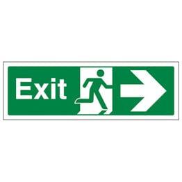 Eco-Friendly Fire Exit Arrow Right