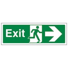 Eco-Friendly Exit Arrow Right - Landscape