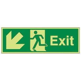 GITD Exit Arrow Down And Left