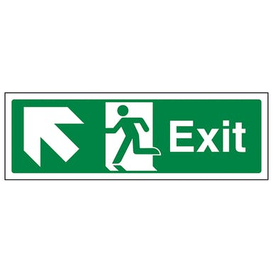 Exit Arrow Up And Left - Landscape