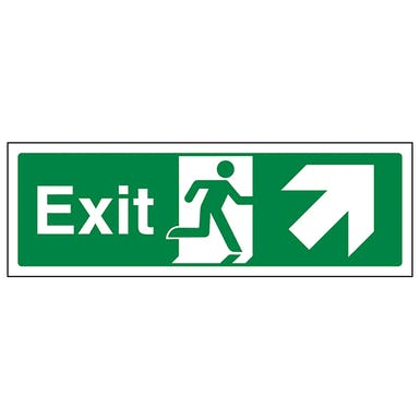 Exit Arrow Up And Right - Landscape