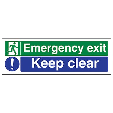 Emergency Exit/Keep Clear - Landscape