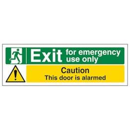 Eco-Friendly Emergency Use/Caution Alarmed - Landscape