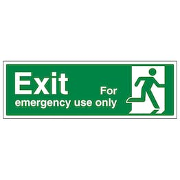 Exit For Emergency Use Only Right - Landscape