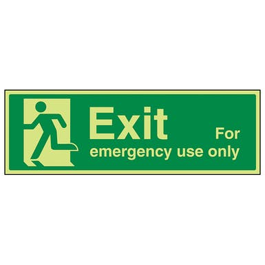 Exit For Emergency Use Only Running Man Left