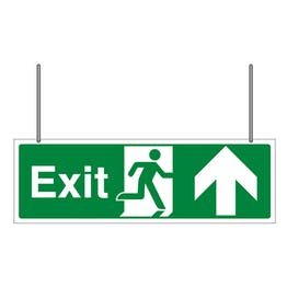 Double Sided Exit Arrow Up
