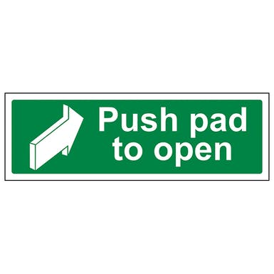 Push Pad To Open - Landscape
