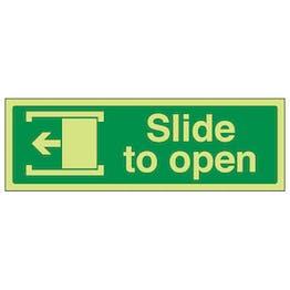 GITD Slide To Open Left - Landscape