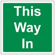 This Way In - Square