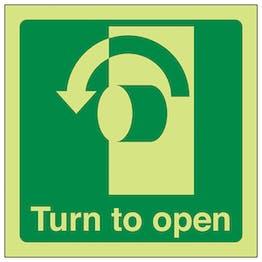 GITD Turn To Open (anti-clockwise) - Square