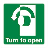 Turn To Open Anti-Clockwise - Square