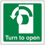 Eco-Friendly Turn To Open Anti-Clockwise - Square