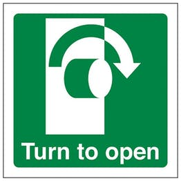 Eco-Friendly Turn To Open Clockwise - Square