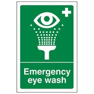 Emergency Eye Wash - Portrait