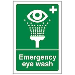 Emergency Eye Wash - Portrait