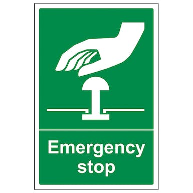 Emergency Stop - Green