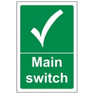 Machinery Safe Condition Signs