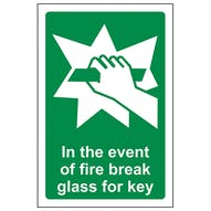 In Case Of Fire Break Glass For Key