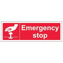 Emergency Stop - Red - Landscape