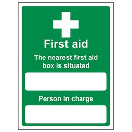 The Nearest First Aid Box Is Situated - Portrait