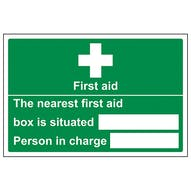 The Nearest First Aid Box Is Situated - Landscape
