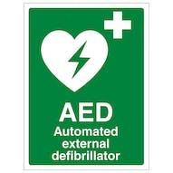 Defibrillator Signs