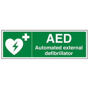AED Automated External Defibrillator - Landscape