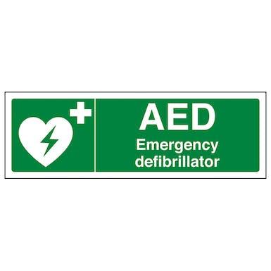 AED Emergency Defibrillator - Landscape